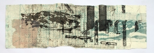 Monotypi I 78 x 24 cm lita fil